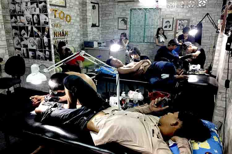 Tiệm xăm hình chuyên nghiệp ở quận Tân Phú