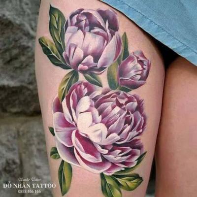Hình xăm bông hoa 1