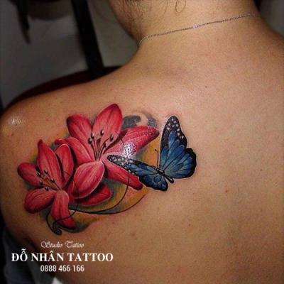 hình xăm bướm 3d 12