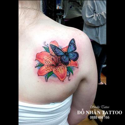 hình xăm bướm 3d 14