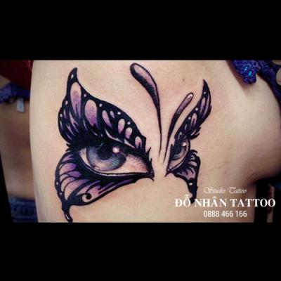 hình xăm bướm 3d 3