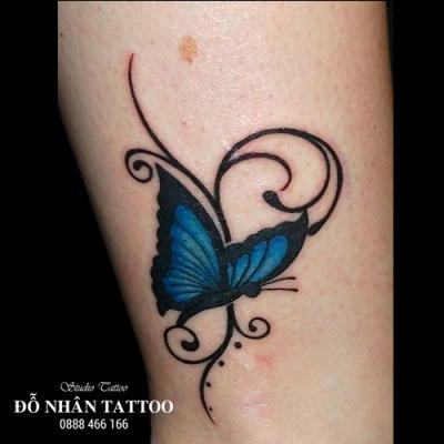 hình xăm bướm 3d 4