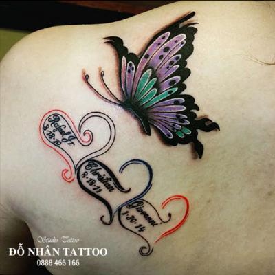 hình xăm bướm 3d 5