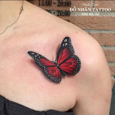 hình xăm bướm 3d 6