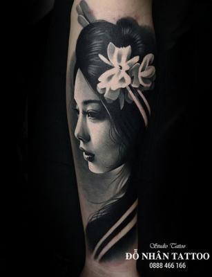 Hình xăm Gái Nhật 18