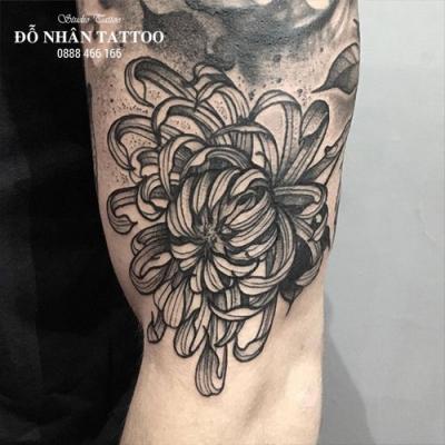 Hình xăm hoa cúc 107
