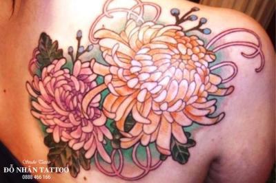 Hình xăm hoa cúc 11