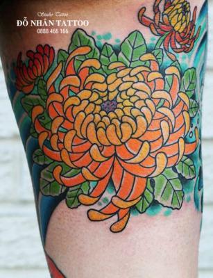 Hình xăm hoa cúc 113