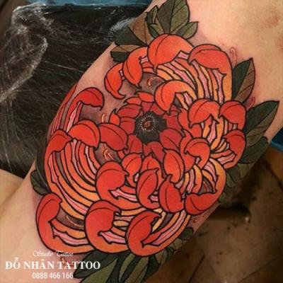 Hình xăm hoa cúc 2