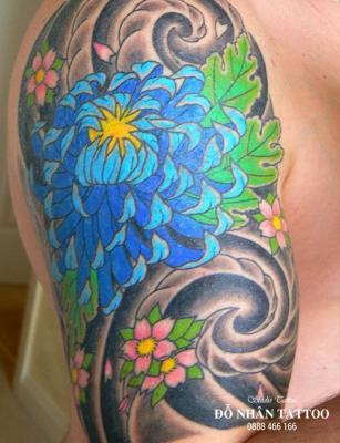 Hình xăm hoa cúc 52