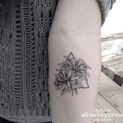 Hình xăm hoa cúc 78