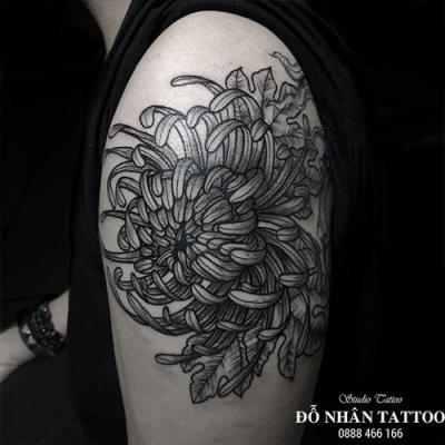 Hình xăm hoa cúc 79