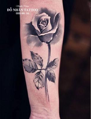 Hình xăm hoa hồng 201