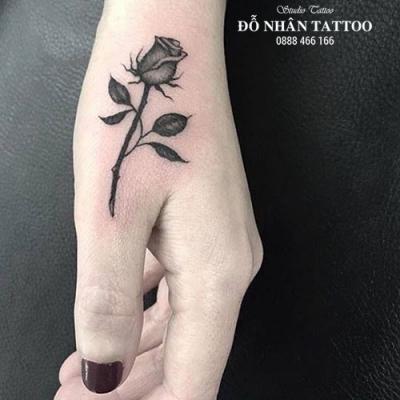 Hình xăm hoa hồng 207