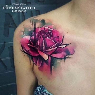 Hình xăm hoa hồng 210
