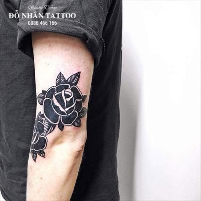 Hình xăm hoa hồng 37