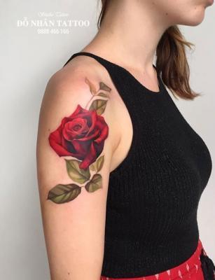 Hình xăm hoa hồng 38
