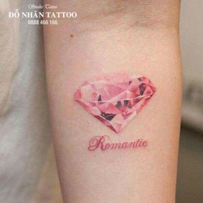 Hình xăm kim cương 1