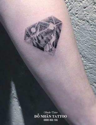 Hình xăm kim cương 105