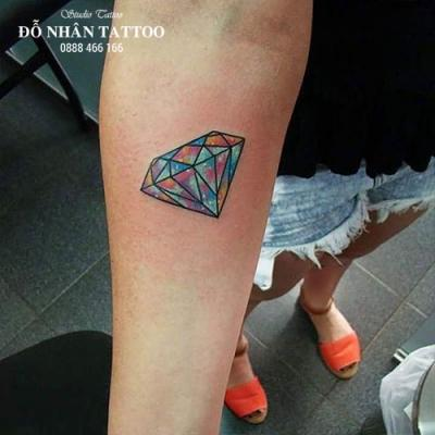 Hình xăm kim cương 108