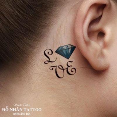 Hình xăm kim cương 110