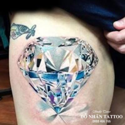 Hình xăm kim cương 115