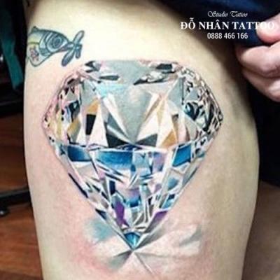 Hình xăm kim cương 12