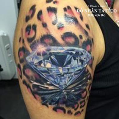 Hình xăm kim cương 137