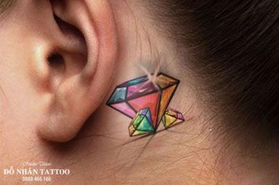 Hình xăm kim cương 138