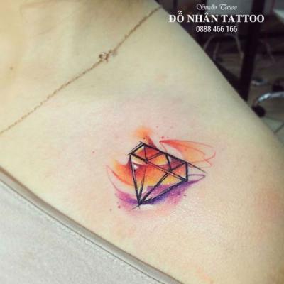Hình xăm kim cương 139