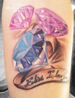 Hình xăm kim cương 140