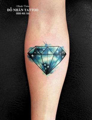 Hình xăm kim cương 144