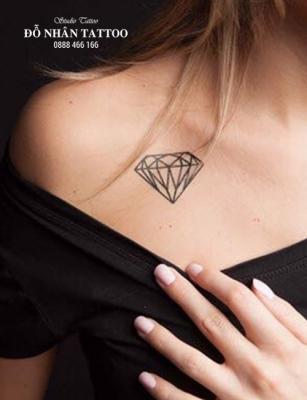 Hình xăm kim cương 16