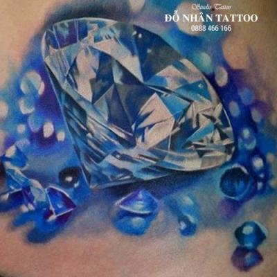 Hình xăm kim cương 22