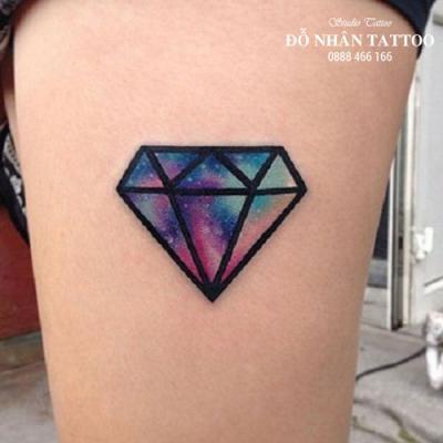 Hình xăm kim cương 4