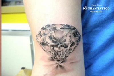 Hình xăm kim cương 44