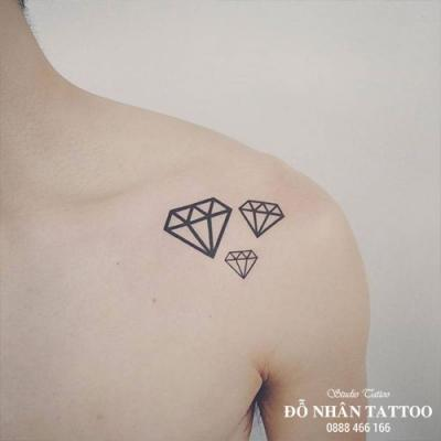 Hình xăm kim cương 58