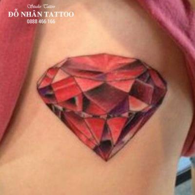 Hình xăm kim cương 80