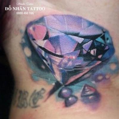 Hình xăm kim cương 86