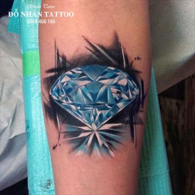 Hình xăm kim cương 90