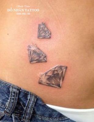 Hình xăm kim cương 96