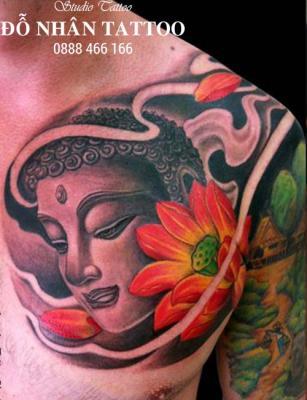 Hình xăm Phật 4