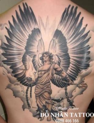 Hình xăm Thiên Thần 142