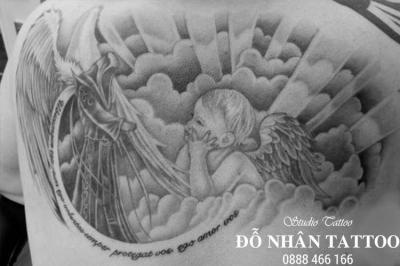 Hình xăm Thiên Thần 162